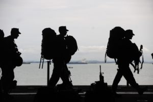 Soldiers coming home from sea duty