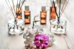 Essential oils are used for aromatherapy